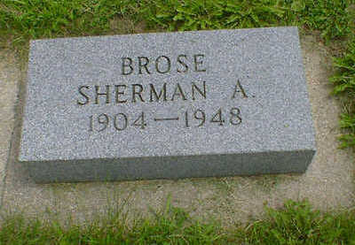BROSE, SHERMAN A. - Cerro Gordo County, Iowa | SHERMAN A. BROSE