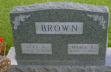 BROWN, ELZA A. - Cerro Gordo County, Iowa | ELZA A. BROWN