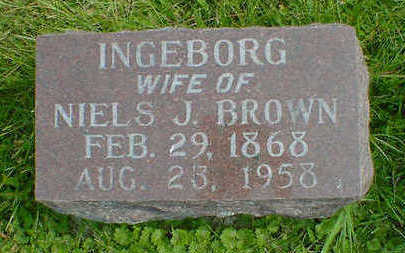 BROWN, INGEBORG - Cerro Gordo County, Iowa | INGEBORG BROWN