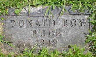 BUCK, DONALD ROY - Cerro Gordo County, Iowa   DONALD ROY BUCK
