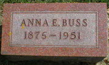 BUSS, ANNA E. (KNAAK) - Cerro Gordo County, Iowa | ANNA E. (KNAAK) BUSS