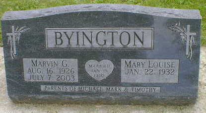 BYINGTON, MARVIN G. - Cerro Gordo County, Iowa | MARVIN G. BYINGTON