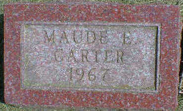 CARTER, MAUDE E. - Cerro Gordo County, Iowa | MAUDE E. CARTER