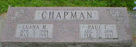 CHAPMAN, PAUL T. - Cerro Gordo County, Iowa | PAUL T. CHAPMAN