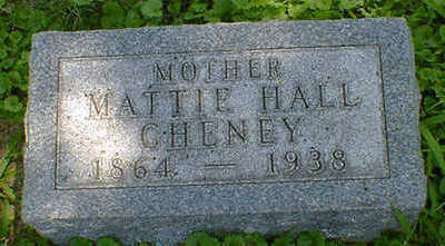 HALL CHENEY, MATTIE - Cerro Gordo County, Iowa | MATTIE HALL CHENEY