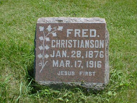 CHRISTIANSON, FRED - Cerro Gordo County, Iowa | FRED CHRISTIANSON