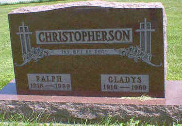 CHRISTOPHERSON, GLADYS - Cerro Gordo County, Iowa | GLADYS CHRISTOPHERSON