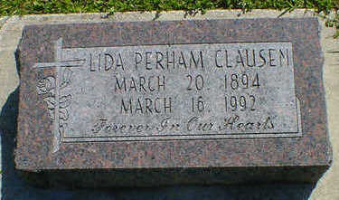PERHAM CLAUSEN, LIDA - Cerro Gordo County, Iowa | LIDA PERHAM CLAUSEN