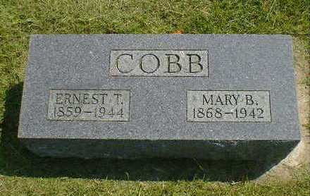 COBB, ERNEST T. - Cerro Gordo County, Iowa | ERNEST T. COBB