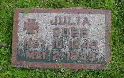 COBB, JULIA - Cerro Gordo County, Iowa | JULIA COBB