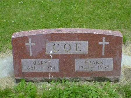 COE, MARY - Cerro Gordo County, Iowa | MARY COE