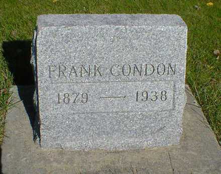CONDON, FRANK - Cerro Gordo County, Iowa | FRANK CONDON