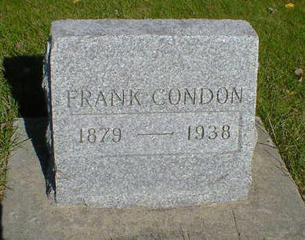 CONDON, FRANK - Cerro Gordo County, Iowa   FRANK CONDON