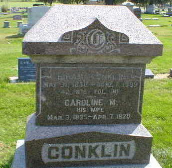 CONKLIN, HIRAM - Cerro Gordo County, Iowa | HIRAM CONKLIN