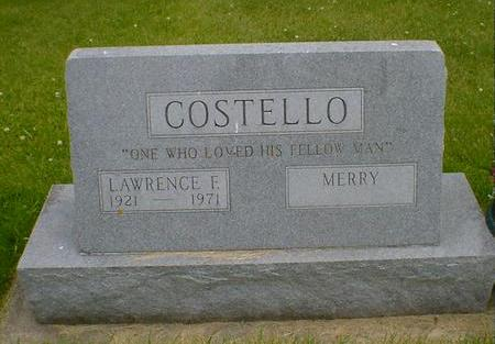 COSTELLO, MERRY - Cerro Gordo County, Iowa | MERRY COSTELLO