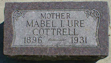 URE COTTRELL, MABEL I. - Cerro Gordo County, Iowa | MABEL I. URE COTTRELL