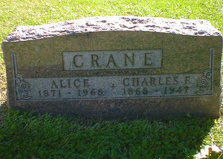 CRANE, ALICE - Cerro Gordo County, Iowa | ALICE CRANE