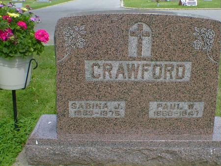 CRAWFORD, PAUL W. - Cerro Gordo County, Iowa | PAUL W. CRAWFORD