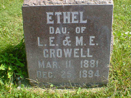 CROWELL, ETHEL - Cerro Gordo County, Iowa | ETHEL CROWELL