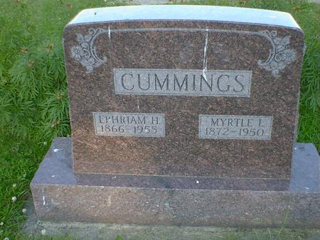 CUMMINGS, MYRTLE I. - Cerro Gordo County, Iowa | MYRTLE I. CUMMINGS