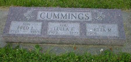 CUMMINGS, LULLA F. - Cerro Gordo County, Iowa | LULLA F. CUMMINGS