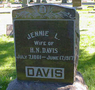 DAVIS, JENNIE L. - Cerro Gordo County, Iowa | JENNIE L. DAVIS