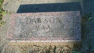 DAWSON, MAX - Cerro Gordo County, Iowa | MAX DAWSON