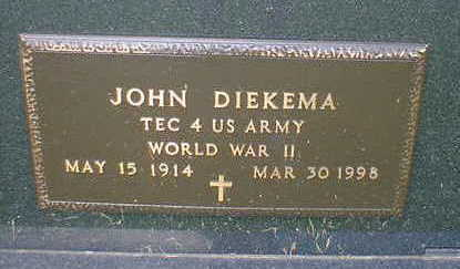 DIEKEMA, JOHN - Cerro Gordo County, Iowa | JOHN DIEKEMA