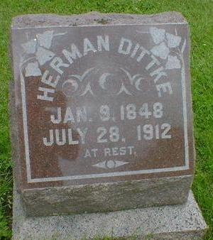 DITTKE, HERMAN - Cerro Gordo County, Iowa | HERMAN DITTKE