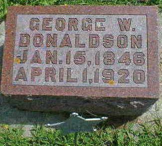 DONALDSON, GEORGE W. - Cerro Gordo County, Iowa | GEORGE W. DONALDSON