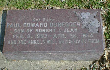 DUREGGER, PAUL EDWARD - Cerro Gordo County, Iowa | PAUL EDWARD DUREGGER