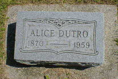 DUTRO, ALICE - Cerro Gordo County, Iowa | ALICE DUTRO