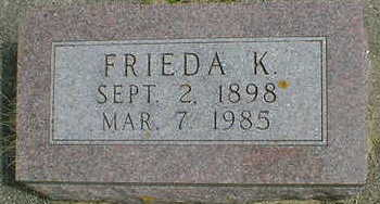 DYE, FRIEDA K. - Cerro Gordo County, Iowa | FRIEDA K. DYE