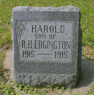 EDGINGTON, HAROLD - Cerro Gordo County, Iowa | HAROLD EDGINGTON