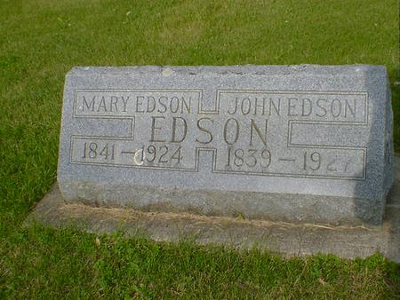 EDSON, MARY - Cerro Gordo County, Iowa | MARY EDSON