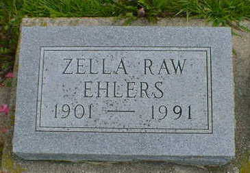 RAW EHLERS, ZELLA - Cerro Gordo County, Iowa | ZELLA RAW EHLERS