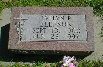 ELEFSON, EVELYN R. - Cerro Gordo County, Iowa | EVELYN R. ELEFSON