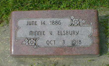 ELSBURY, MINNIE V. - Cerro Gordo County, Iowa | MINNIE V. ELSBURY