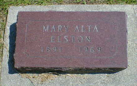 ELSTON, MARY ALTA - Cerro Gordo County, Iowa | MARY ALTA ELSTON