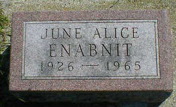 ENABNIT, JUNE ALICE - Cerro Gordo County, Iowa | JUNE ALICE ENABNIT