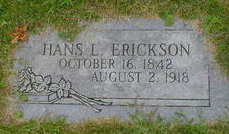 ERICKSON, HANS L. - Cerro Gordo County, Iowa | HANS L. ERICKSON