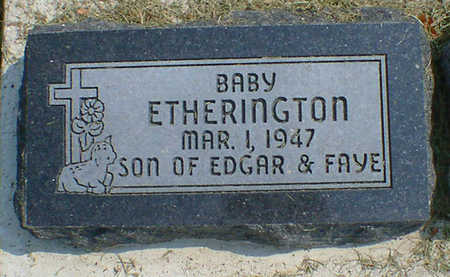 ETHERINGTON, BABY - Cerro Gordo County, Iowa   BABY ETHERINGTON