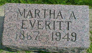 EVERITT, MARTHA A. - Cerro Gordo County, Iowa | MARTHA A. EVERITT