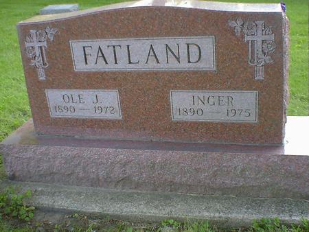 FATLAND, OLE J. - Cerro Gordo County, Iowa | OLE J. FATLAND