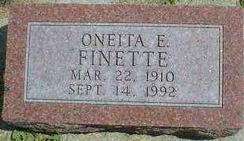 FINETTE, ONEITA E. - Cerro Gordo County, Iowa | ONEITA E. FINETTE