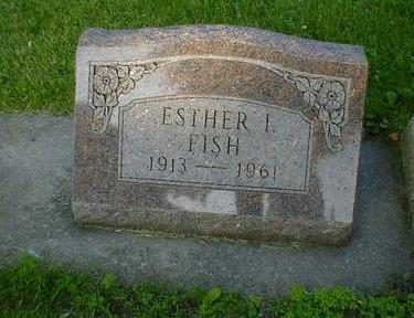 FISH, ESTHER I. - Cerro Gordo County, Iowa | ESTHER I. FISH