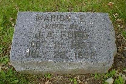 FORD, MARION E. - Cerro Gordo County, Iowa   MARION E. FORD