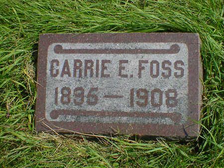 FOSS, CARRIE E. - Cerro Gordo County, Iowa | CARRIE E. FOSS