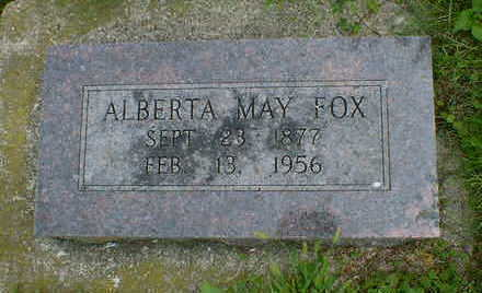 FOX, ALBERTA MAY - Cerro Gordo County, Iowa | ALBERTA MAY FOX
