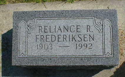 FREDERIKSEN, RELIANCE R. - Cerro Gordo County, Iowa | RELIANCE R. FREDERIKSEN